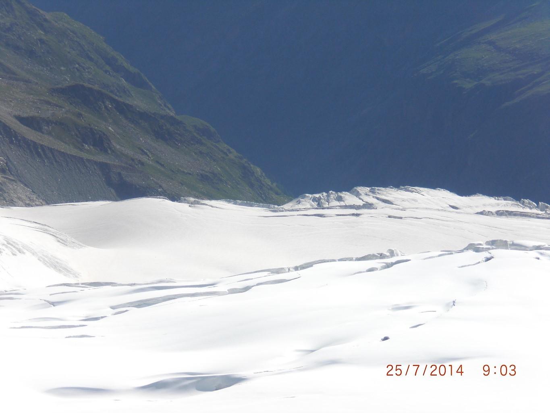 glacier sur l'autre versant