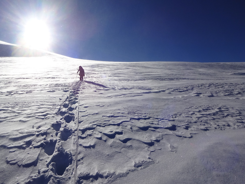 ça brasse sur le glacier entre Orny et Trient