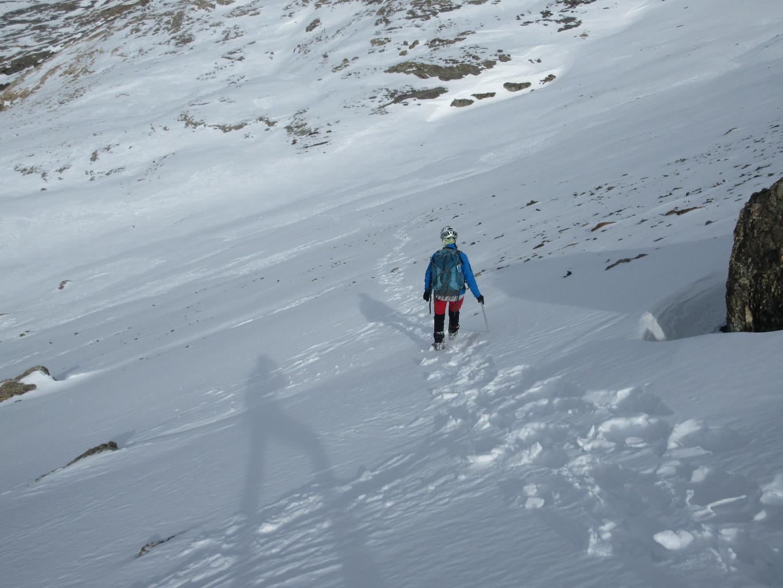 descente agréable dnas la neige