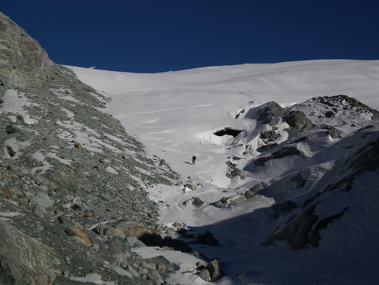 fin de la descente à 3050m