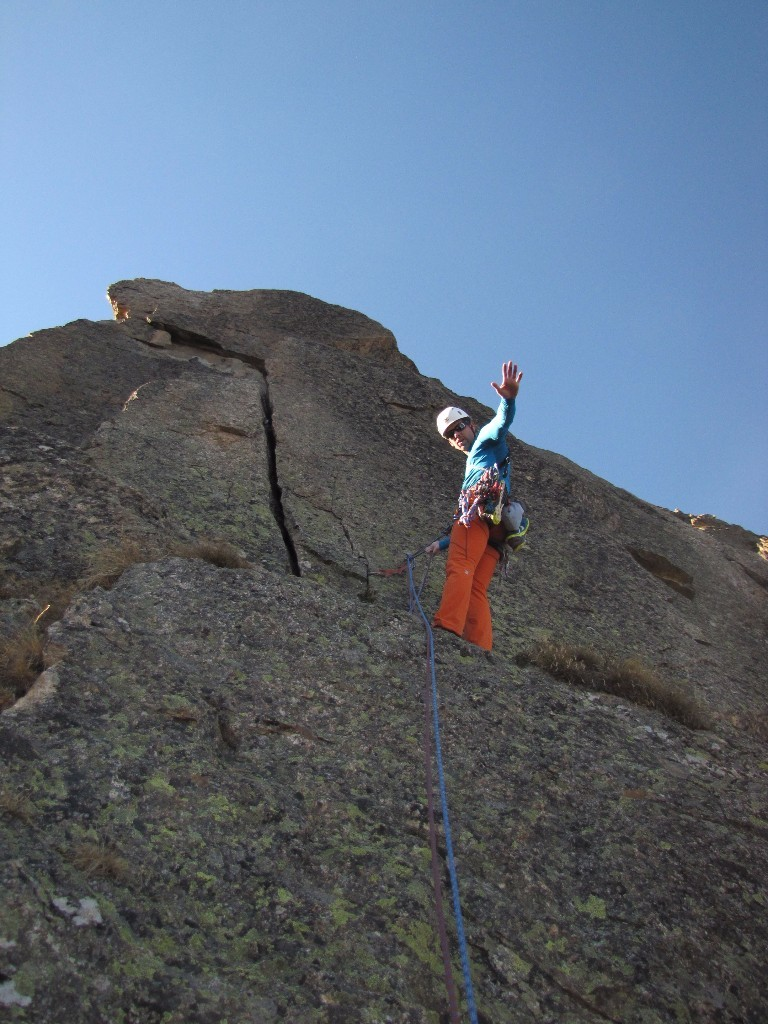 Belay at end of Pitch 7