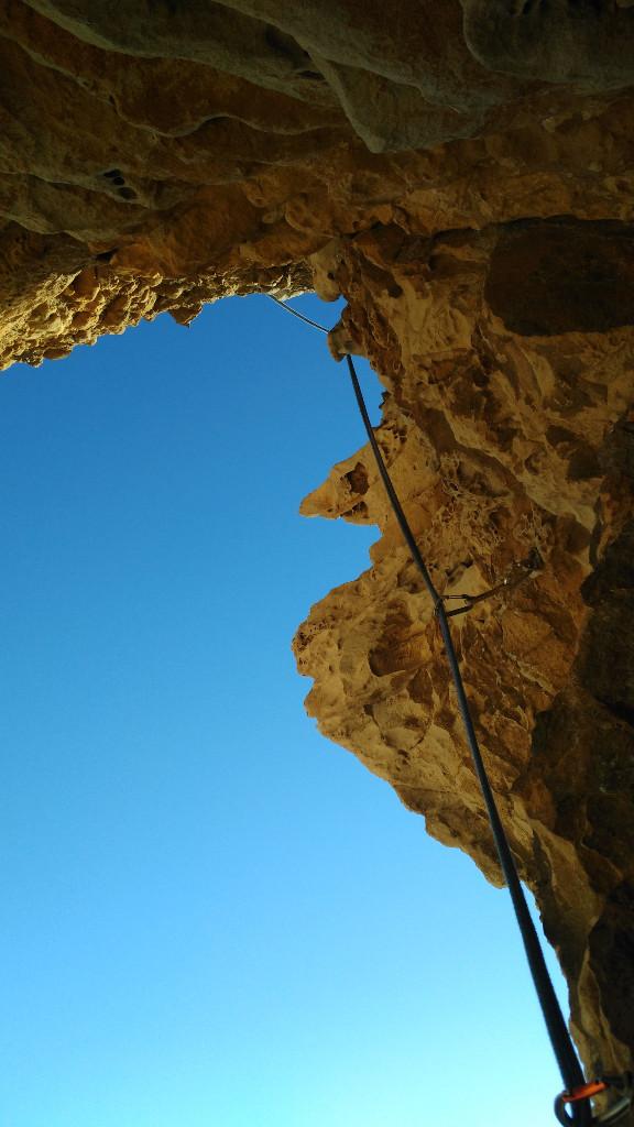 La longueur en 6c, très belle grimpe