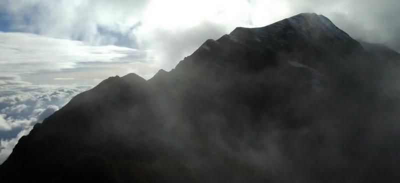 L'arête vers Armènaz depuis le Grand Roc