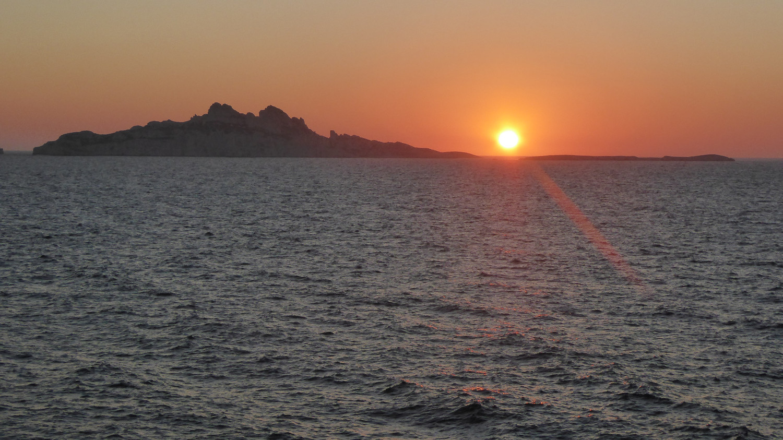 Coucher de soleil au Cap de Morgiou