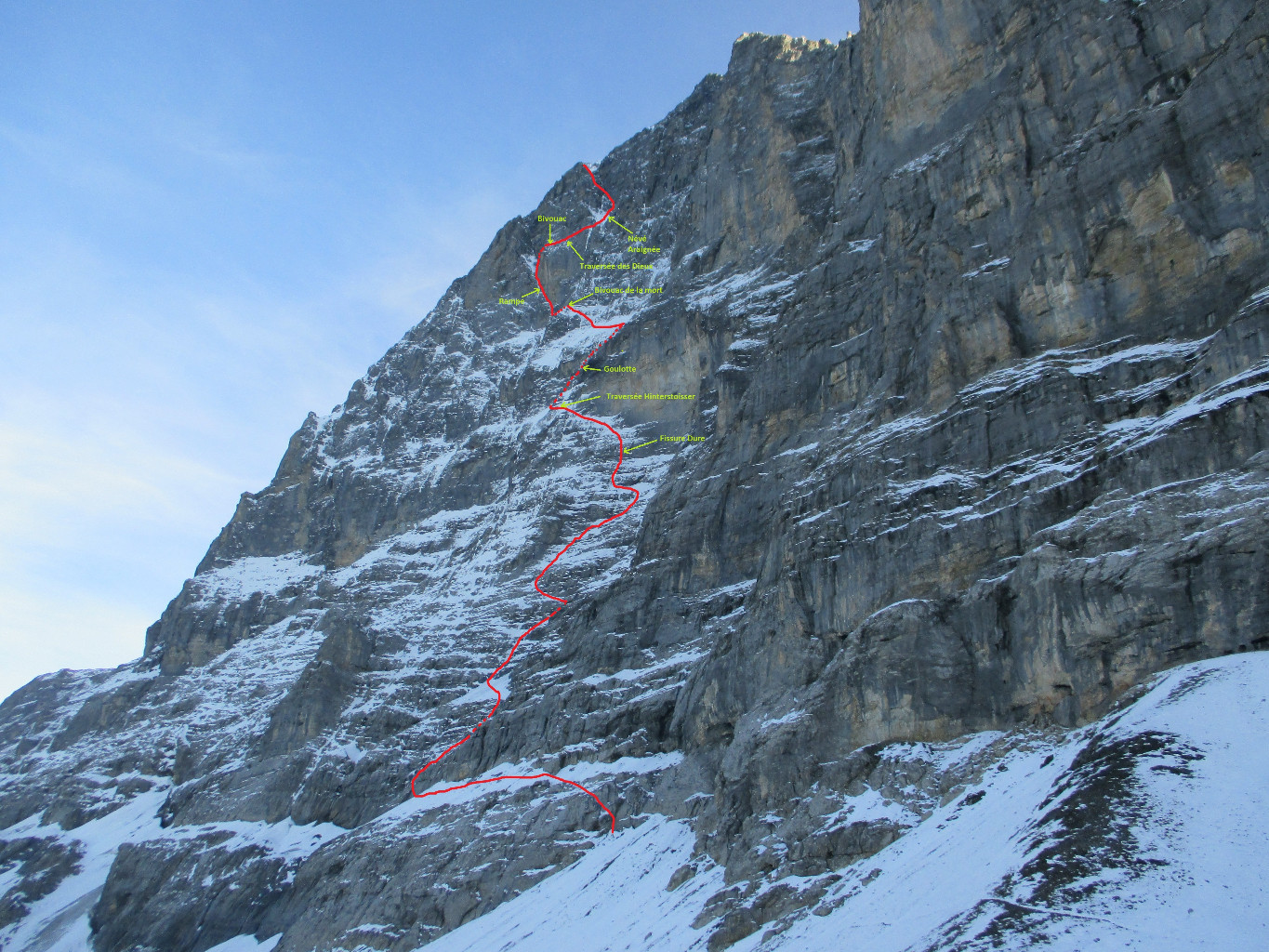 Eiger face n voie heckmair camptocamp infos reheart Images