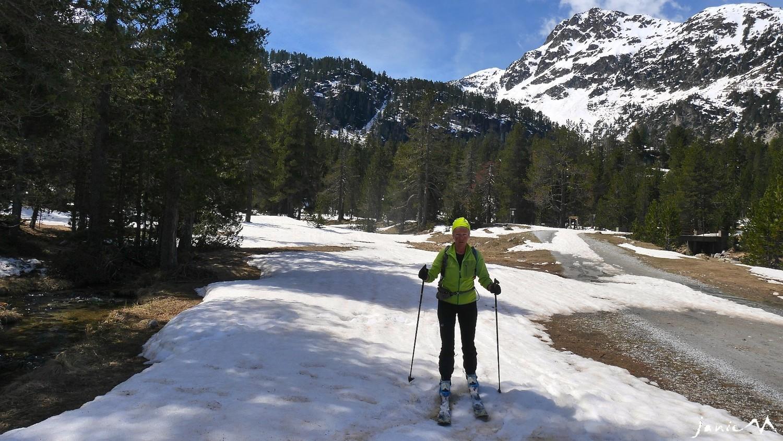 Soulagement fin du parcours ski