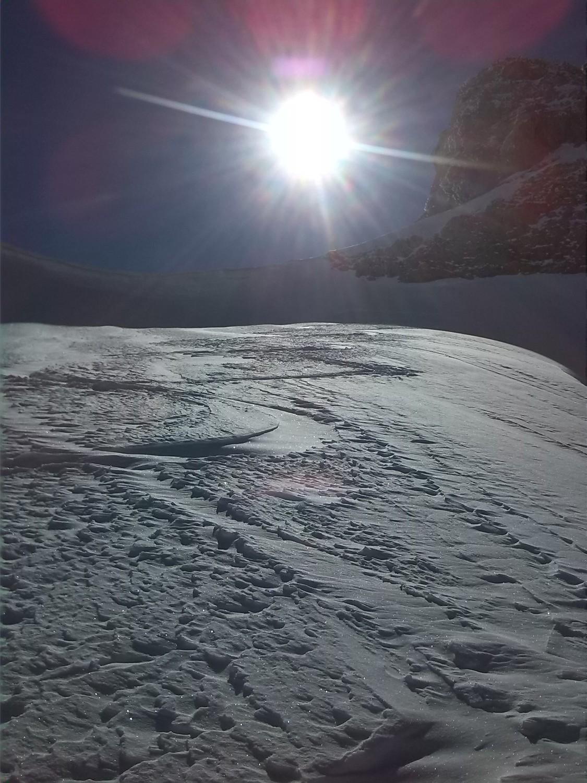 traces de Meije 23 de la veille au sommet