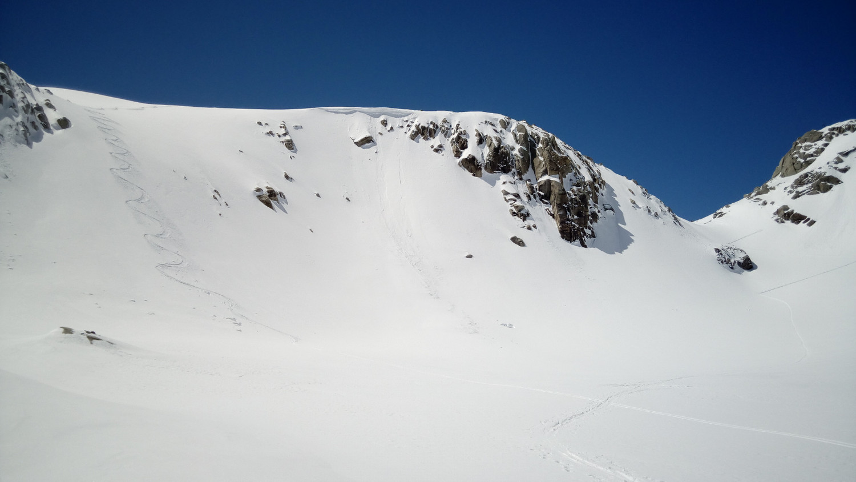 Variante in discesa vicino al passo Vannino