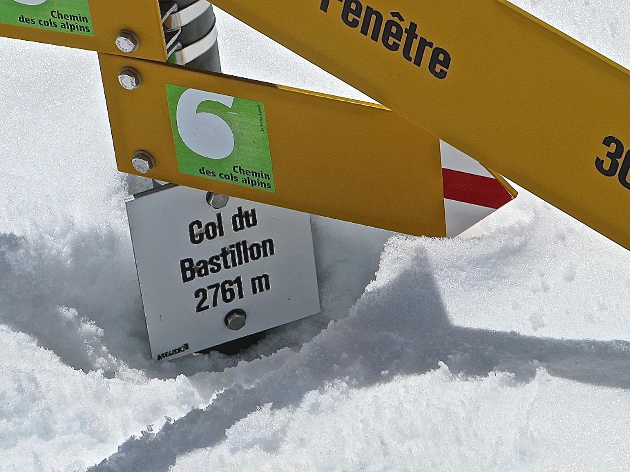 Un col riche en neige.