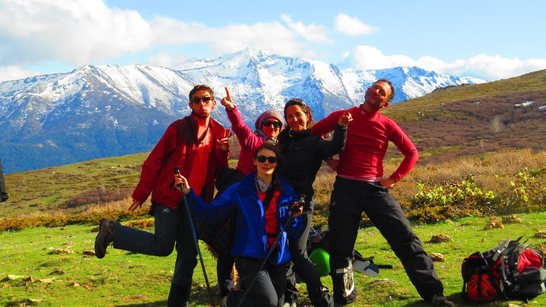 La bande !!!! Derriere, la Punta Artica