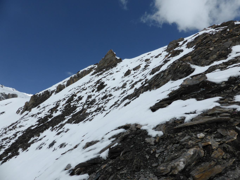 ... voilà le passage! Parfait quand la neige est dure...