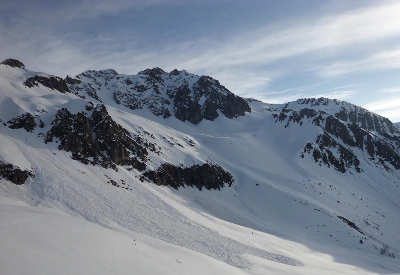 Vue sur le début de la montée au col de Sarvantan