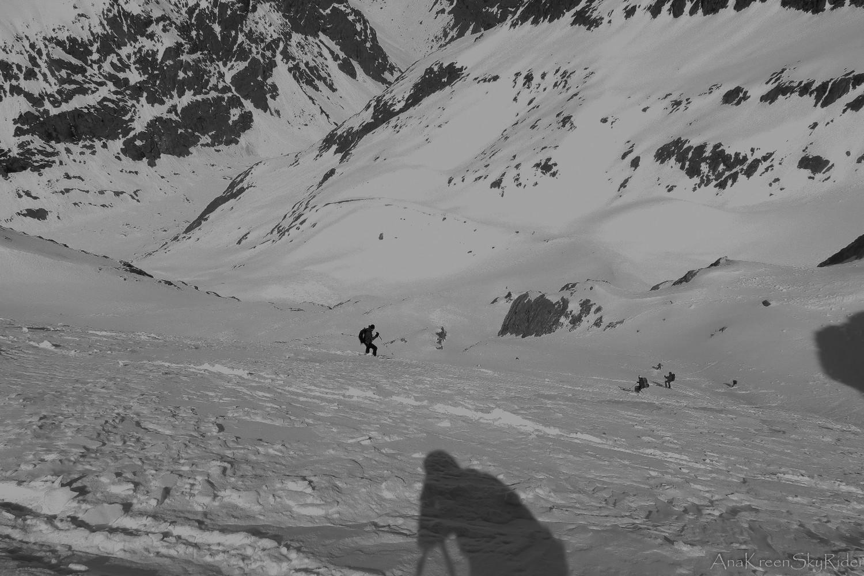 Descente sur le glacier