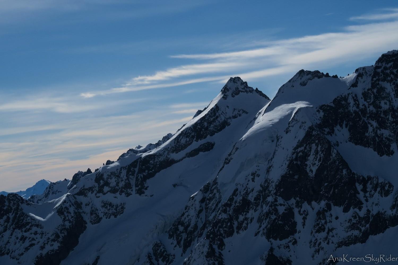 Neige Cordier et haut du glacier des Agneaux