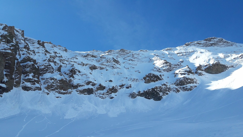 La Diagonale NW vue des abords du glacier du Combeynot
