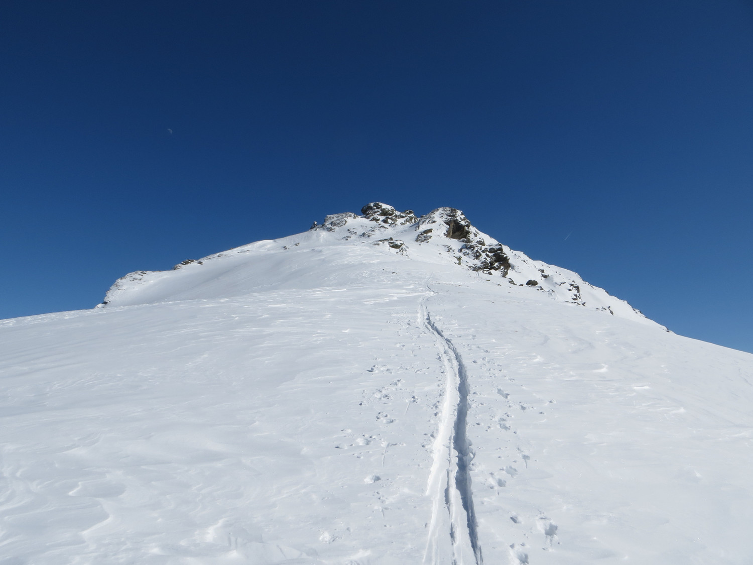 On the NW ridge to Hirzer