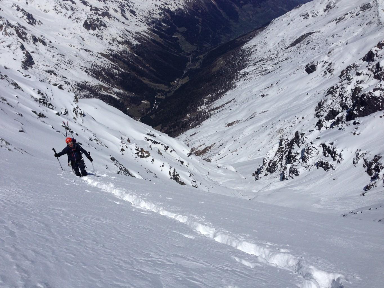 Presque au sommet, fatiguant de tracer dans cette neige !