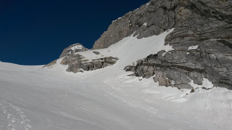 Da la montée, debut du glacier