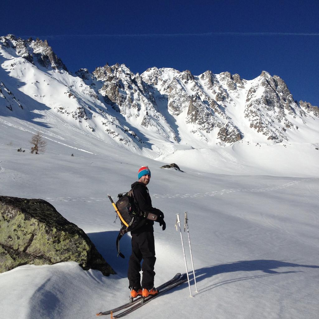 Val d'Arpette. Il y a encore de la neige pour quelques sorties!