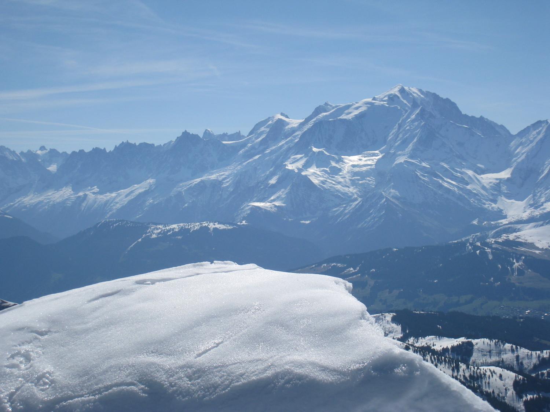 Mt Blanc vu depuis sommet de la Gde Balmaz(2616m)