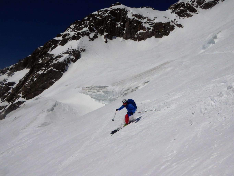 Andrea sul ghiacciaio della Cassandra