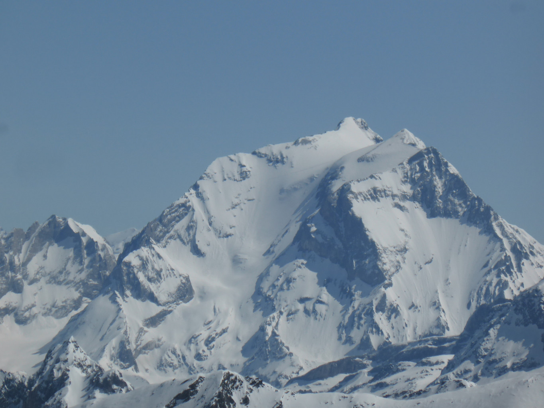 La Grande Casse vue de Val Thorens, prometteuse sous le ciel bleu...