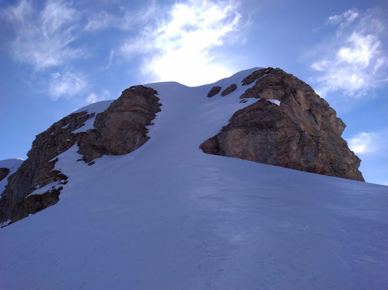 Le couloir d'accès au sommet
