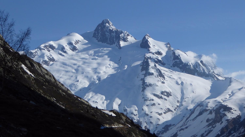 Aiguille des Glaciers depuis la endroit où on a laisser la voiture!