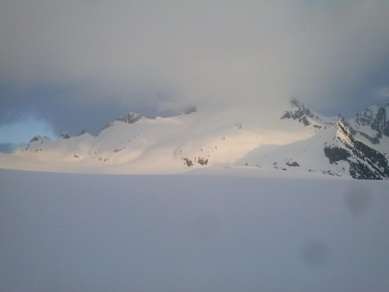 Oberalpstock encore dans les nuages