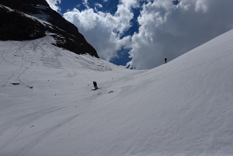 Scendendo dal Gletscherhorn 3107m