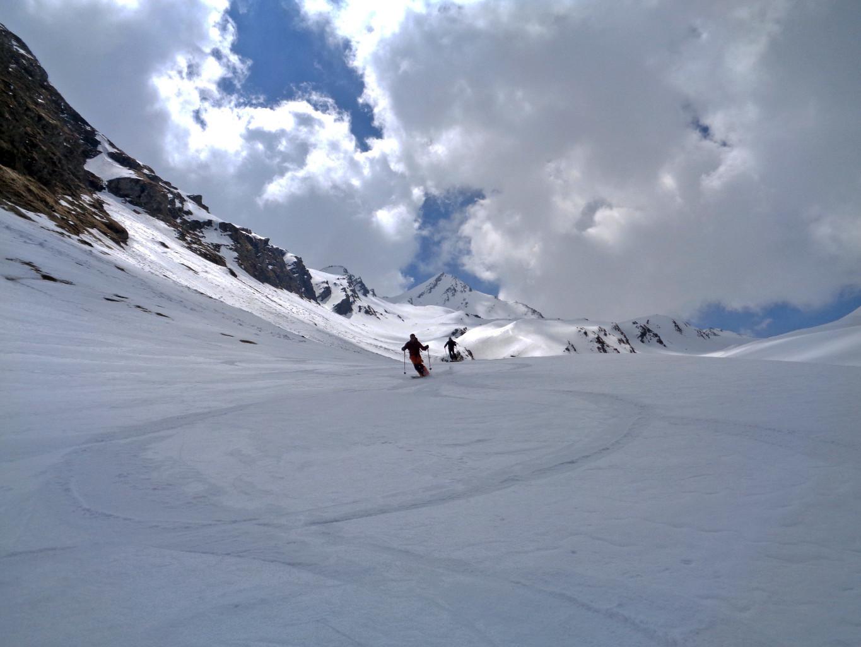 Scendendo dal Gletscherhorn su bella neve primaverile