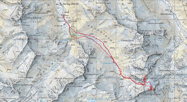 Augstenhüreli 3027m e Chüealphorn 3077m da Sand (Davos) svil 9,5km (GR-CH ) 08-05-2016