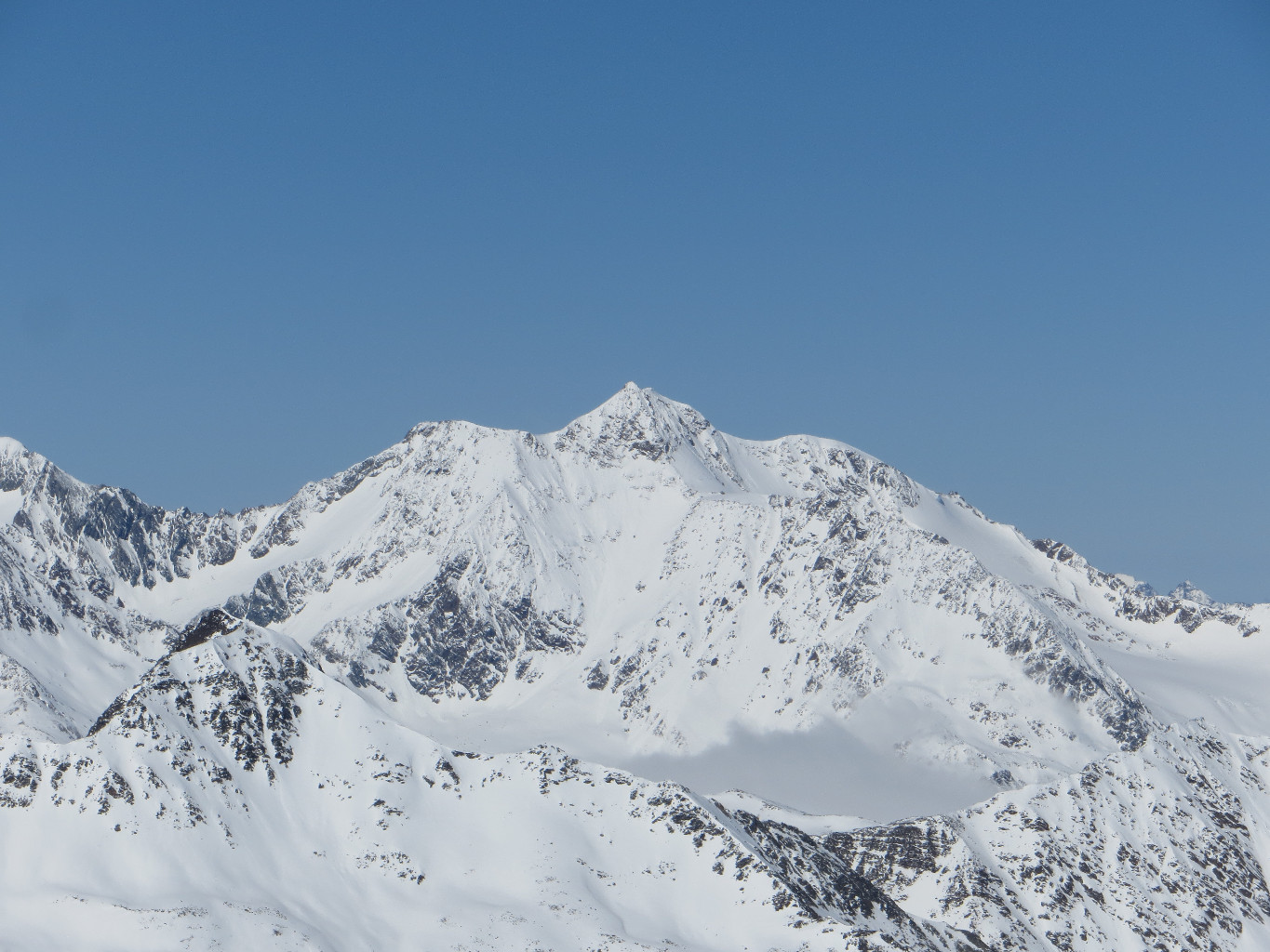 Wildspitze S face from Similaun