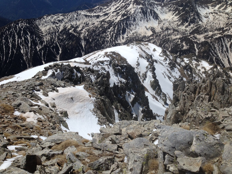 l'itinéraire suivi, vu du sommet