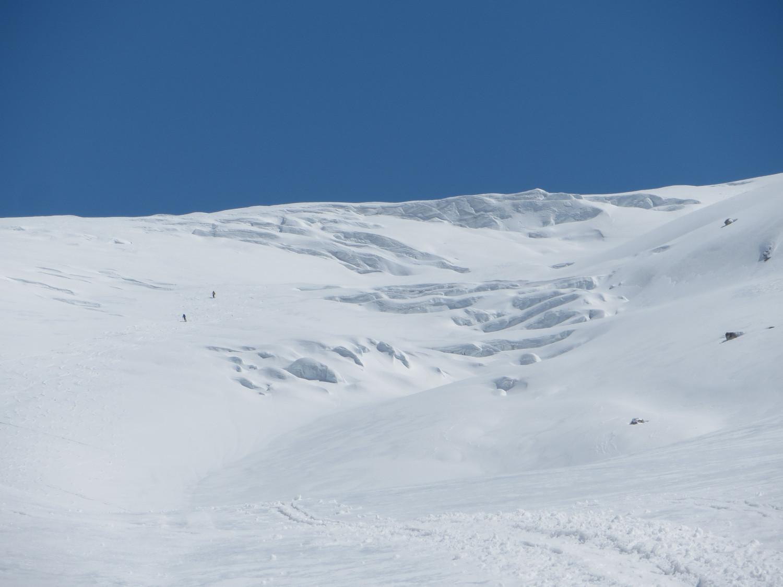 Crevasses around 2700m