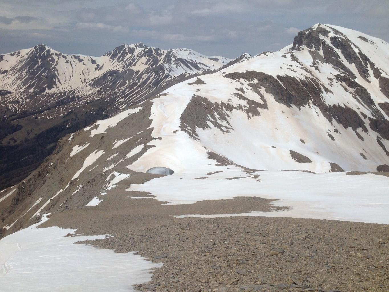 le Lac de la Pare (2655m) et la Grande Epervière (2884m)