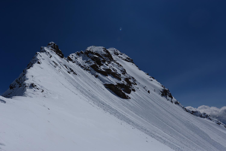 Il tratto alpinistico per salire al Monte Disgrazia  dalla Sella di Pioda