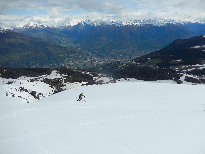 Scendendo dal Drinc sopra Aosta