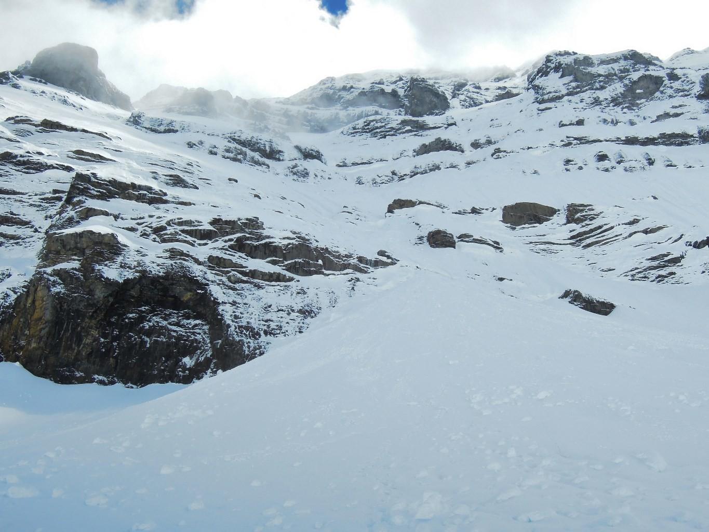 Vers 2500m. au pied du versant N du Grand Ruan