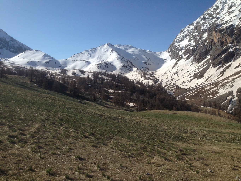 Le Col du Vallonet  et la Tete de Plate Lombarde (2609m)