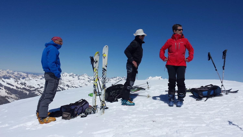 Au sommet du Taillon, Christian, Alain, Solène