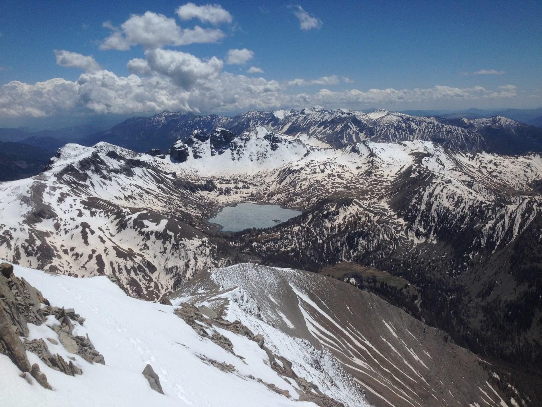 Le Lac d'Allos (2227m) et les Tours du Lac d'Allos (2745m)