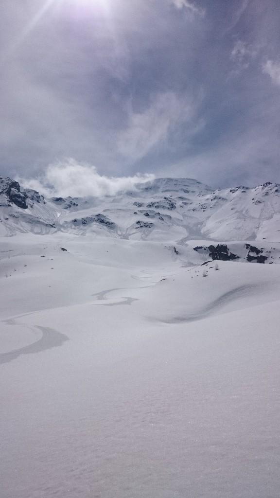 Gran sciata e gran neve