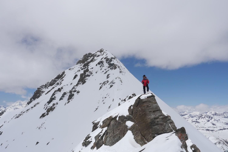 the ridge to the summit