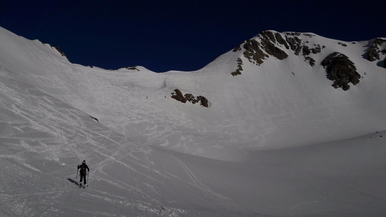 Montée vers le Col de l'Amiante et Rocher Blanc