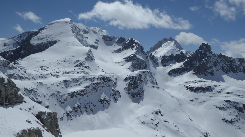 Vue sur l'itinéraire du lendemain (glacier d'Ambin)