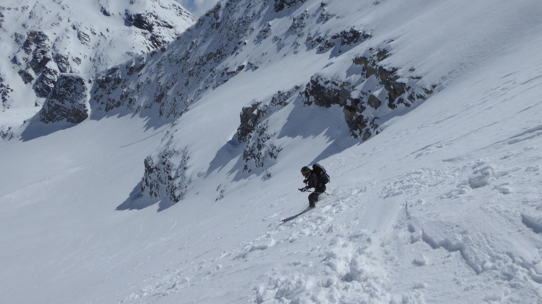 Dans la descente du glacier d'Ambin