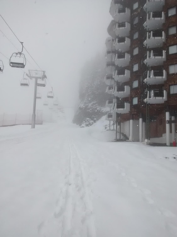 Chutes de neige au retour