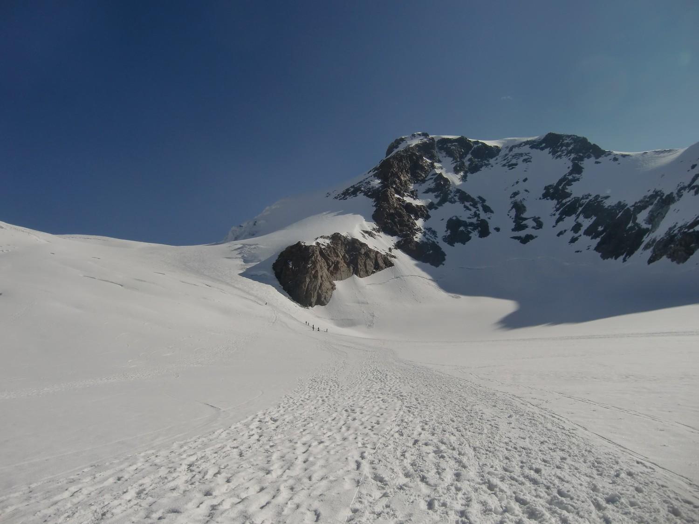 Sur le glacier du Lys