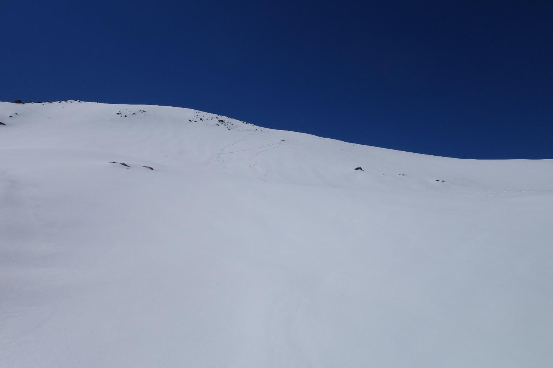 Dernière pente avant sommet